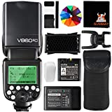 Godox Ving V860II-C HSS 1 / 8000S GN60 2.4G TTL Batteria agli ioni di litio Flash Speedlite per Canon EOS 6D 50D 60D 1DX 580EX II 5D Mark II III
