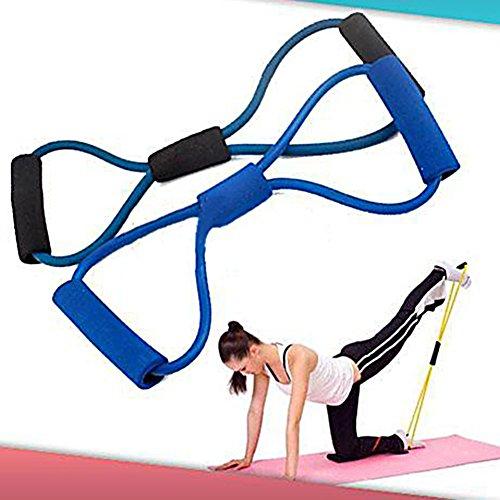 Broadfashion Bande de résistance en forme de 8 Musculation Fitness Yoga