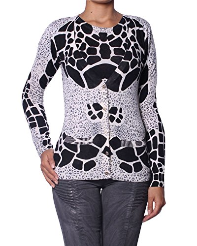 Pierre Balmain Damen Wolle Twin-Set (Top + Cardigan) - mehrfarbig, S (FR38/IT42) (Langarm Balmain)