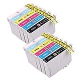 Druckerpatronen für Epson T0807, 12Stück