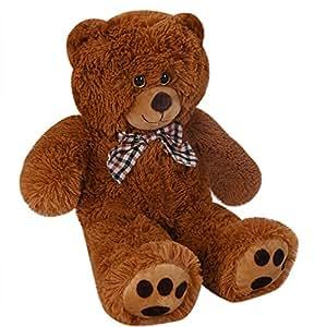 Deuba Teddy   Größe L 50cm   Farbe Braun   Allergiker geeignet   Teddybär Kuscheltier Stofftier Plüschbär Plüschtier Teddi