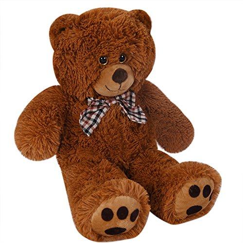 Deuba Teddy | Größe L 50cm | Farbe Braun | Allergiker geeignet | Teddybär Kuscheltier Stofftier Plüschbär Plüschtier (Erwachsene Größe Teddybären)