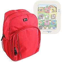 DURAGADGET Mochila De Tablets Para Niños Para Educa Touch Baby + Funda Impermeable - Color Rojo - Alta Calidad