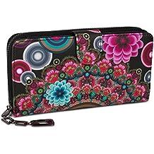 styleBREAKER portafogli con fiori e etnici e design colorato