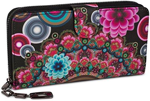 styleBREAKER , Portafogli  Donna Multicolore Schwarz-Rot-Pink