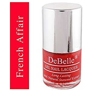 DeBelle Gel Nail Lacquer French Affair - 8 ml (Red Nail Polish)