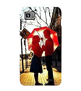 Fuson Designer Back Case Cover for Lenovo K860 :: Lenovo IdeaPhone K860 (Lovely Couple Couple In Love Couple With Umbrella Red Umbrella Nice Couple Made For Each Other)