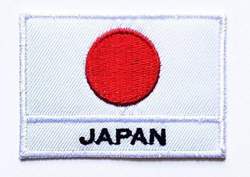Parche bordado de la bandera japonesa para coser