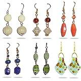 Beadworks Beaded Earrings - SET OF 6 PAI...