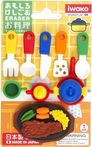 Iwako Radiergummi Küchen Utensilien 10 Stück Set