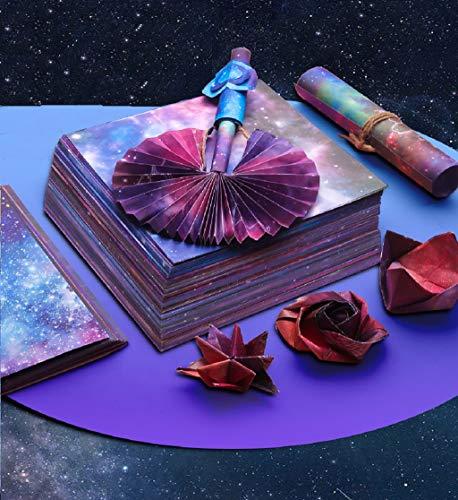 150 Blätter 12 Verschiedenen Einzigartigem Design Origami Papier 15x15 cm Faltpapier Set Doppelseitig Konstellation Nachthimmel Origami Papier Sternschnuppen der Sterne origami papier