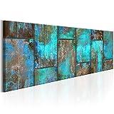 decomonkey | Bilder Abstrakt 150x50 cm | 1 Teilig | Leinwandbilder | Bild auf Leinwand | Vlies | Wandbild | Kunstdruck | Wanddeko | Wand | Wohnzimmer | Wanddekoration | Deko | Holz Aquamarine Modern
