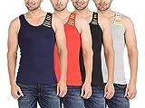 Zippy Men's Swift Sleeveless Multi color Vest (Pack of 4)