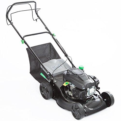 Ultranatura Benzin-Rasenmäher BR-100, 1.9 kW (2.60 PS), 46 cm Schnittbreite, 9-fache zentrale Schnitthöhenverstellung, 50 l Textil-Grasfangsack