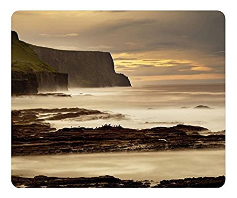 The Cliffs Of Moher Ireland Gaming Mouse Pad - Unique Personalized Oblong Shaped Mouse Pad Design Natural Eco Rubber Durable Computer Desk Stationery Accessories Gifts For Mouse Pads - Support Wired Wireless or Bluetooth Mouse
