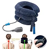 Cervical Neck Traction device, Vinmax massaggiatore cervicale gonfiabile barella improve spine allineamento ridurre dolore al collo cervicale cuscino regolabile casa di trazione