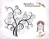 disok–Bäume von Fingerabdrücken für Kommunion Mädchen–Bäume von Fingerabdrücken für Hochzeiten, 60x 40cm–Blätter Bäume Fingerabdrücke für Anpassen für Kommunion