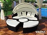 Swing & Harmonie Polyrattan Sonneninsel 180cm als Sitzgruppe