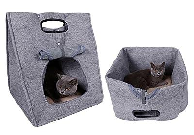 Orchidtent Pet Nest Casa plegable y portátil para gatos y perros