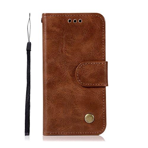 Chreey iPod Touch 5/Touch 6 Hülle, Premium Handyhülle Tasche Leder Flip Case Brieftasche Etui Schutzhülle Ledertasche, Braun (Mädchen Ipod-taschen 4. Generation)