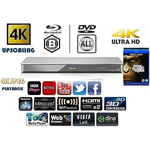 Panasonic dmp-bdt460eb 3d, 4K Lettore DVD multiregione/Smart Network Blu-ray Disc–Bundle Ice Age 3(3d) o di ricambio titolo