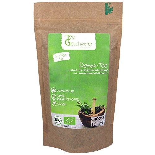 Tee-Geschwister BIO Detox Tee | Brennesseltee zur Begleitung einer Diät oder Entschlackungskur | ohne Zusatzstoffe & zuckerfrei | inkl 14 Tage Detox Kur Guide | Kräutertee aus Deutschland | 85g