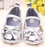 PIKABOO Silver Ballerina Baby Shoes