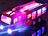 Enlarge toy image: WolVol Bump & Go Action Electric Fire Truck Toy with Lights and Sirens
