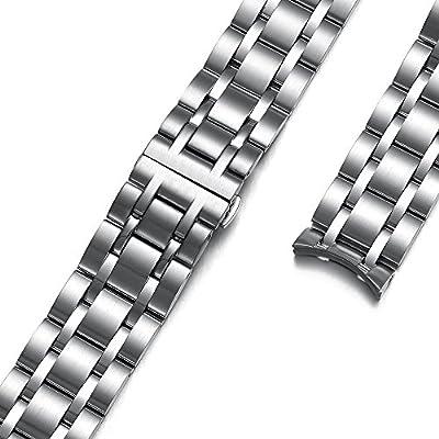 Correa de reloj de acero inoxidable de la banda de reemplazo de extremo curvado para TISSOT COUTURIER T035 con 22MM 23MM 24MM Lug CHIMAERA
