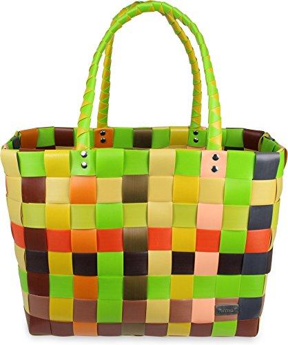 normani Einkaufskorb geflochten - wasserabweisend und robust Farbe Classic/Sunflower
