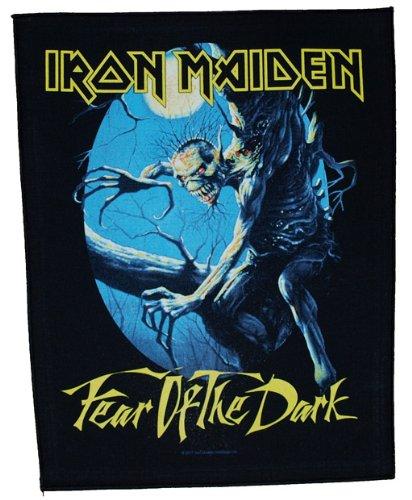 Toppa decorativa degli IRON MAIDEN, motivo Fear of the Dark, da cucire