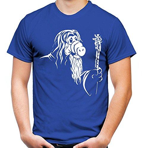 GandAlf Männer und Herren T-Shirt | Spruch Alf Outfit Geschenk (M, (Ideen Kostüme Film Kult)