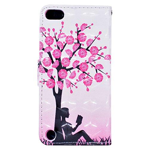 WE LOVE CASE iPhone 5S / 5 / SE Cover Wallet Torre Eiffel Farfalla Fiore Rosa Vintage Style iPhone 5S / 5 / SE Custodia Pelle Flip Marrone Bianco Copertura PU Leather Inter Silicone TPU Bumper Antiurt Plum