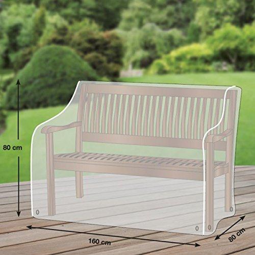 Premium Plus Leicht Schutzhülle für Gartenbank aus Ripstop-Polyester- hellgrau - von 'mehr Garten' - für 3-Sitzer