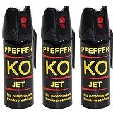 BALLISTOL Verteidigungsspray Pfeffer KO Jet 3 Dosen mit je 50 ml Pfefferspray bis zu 5 m Reichweite