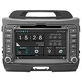witson® für Kia Sportage 2011201220132014INDASH DVD player mit GPS Sat Nav Navigation Digital HD Kapazitive Touchscreen/iPod Steuerung/integrierter Bluetooth Hands-free/Lenkradfernbedienung
