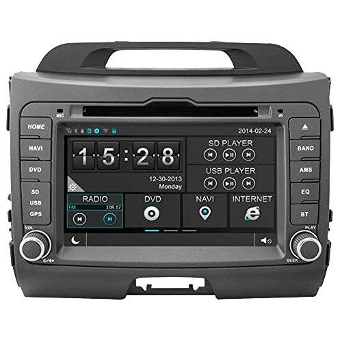 ortage 2011201220132014INDASH DVD player mit GPS Sat Nav Navigation Digital HD Kapazitive Touchscreen/iPod Steuerung/integrierter Bluetooth Hands-free/Lenkradfernbedienung ()