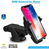 #1: Zaap Quick Touch One Premium Car Mount Holder for Smart Phones with 360° Multi Angle Adjustable, Universally Compatible, 3-in-1 for Car Windshield, Car Dashboard, (3rd Generation, Black) (Made In Korea)