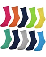 10 Paar Kinder Socken für Jungen & Mädchen - Baumwolle - versch. Farben & Größen - 50003 sockenkauf24
