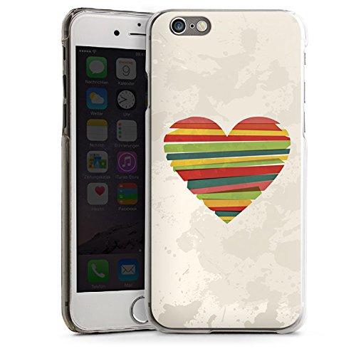 Apple iPhone 5 Housse étui coque protection Amour Amour C½ur CasDur transparent