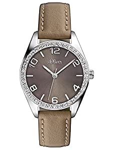 s.Oliver Damen-Armbanduhr Casual XS Analog Quarz Leder SO-2547-LQ