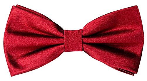 Helido Elegante Fliege für Herren, einfarbig, verstellbar + Geschenkbox - perfekt zu Anzug und Hemd (Bordeaux)