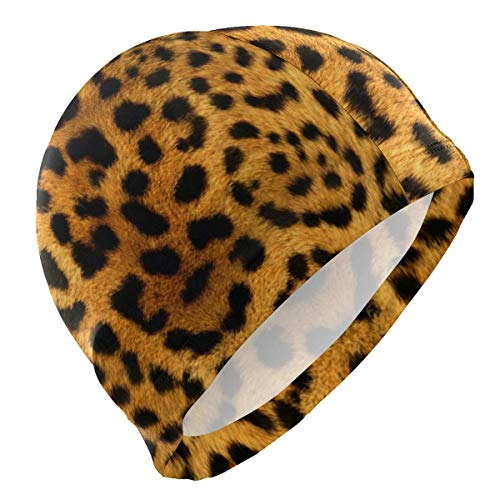 kappe Animal Leopard Skin Cheetah Lycra Swim Cap Swimming for Women Men ()