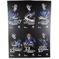 Autogrammkarten 2015//2016 S04 FC Schalke 04 mit gedruckten Unterschriften