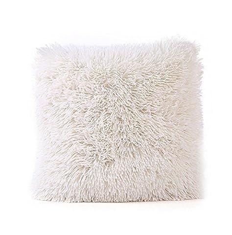 Yistu Pillow Case ,Plush Soft Geometric Shape Sofa Bed Home Decor Pillow Case (Beige)