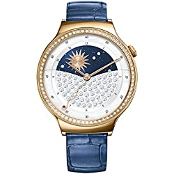 Huawei 55021238Jewel Smart Wrist Watch with Stainless Steel/Leather Bracelet Rose Gold/Blue