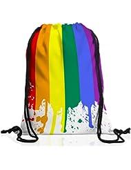 style3 Bandera arcoíris Bolsa mochila bolsos unisex gymsac