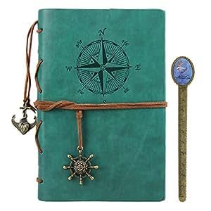 notizbuch a5 retro tagebuch journal reisetagebuch leder ringbuch zeichenfolge gebunden. Black Bedroom Furniture Sets. Home Design Ideas