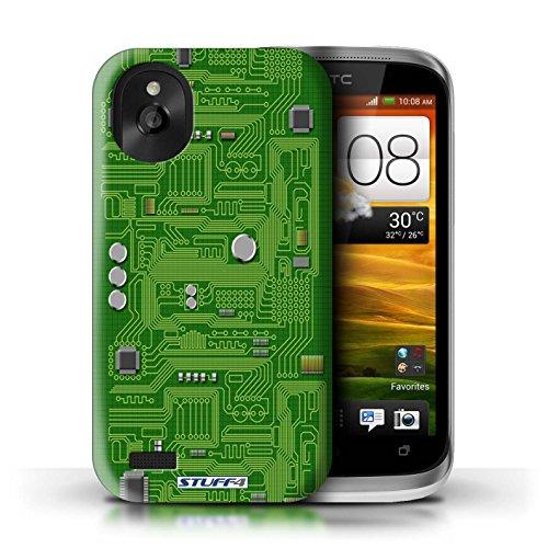 Kobalt® Imprimé Etui / Coque pour HTC Desire X / Vert conception / Série Circuit Board Vert