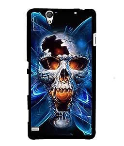 Fuson 2D Printed Skull Designer back case cover for Sony Xperia C4 - D4346